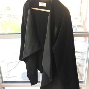 Zara Faux Leather Detail Cardigan